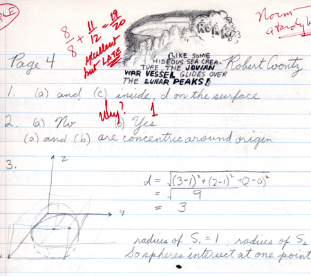 Page from Robert's multivariable calculus homework