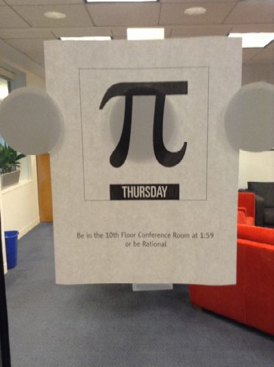 Pi Day poster from Robert's office
