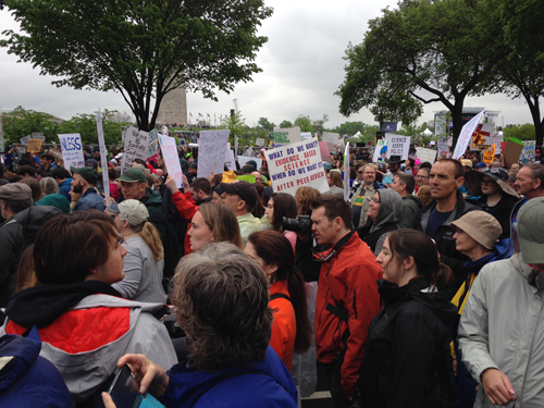 Science March, marching down Constitution Avenue