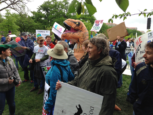 Science March, paleontology contingent