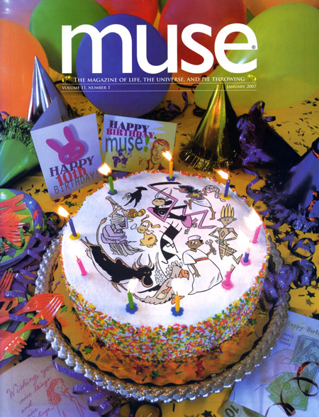 Muse cover, January 2007, 10th anniversary issue