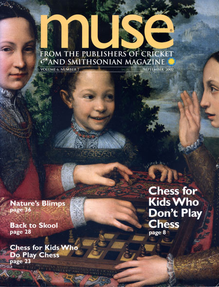 Muse cover, February 2002, chess