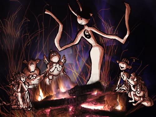 Aeiou telling campfire tales