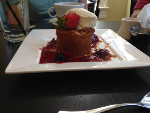 Brown sugar berry cake