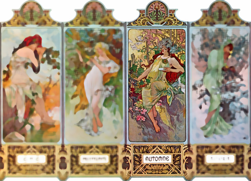 Mucha seasons: Autumn