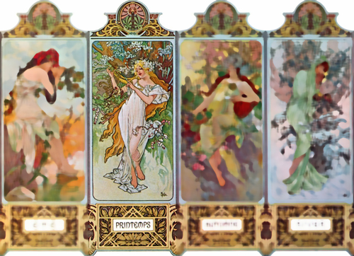 Mucha seasons: Spring