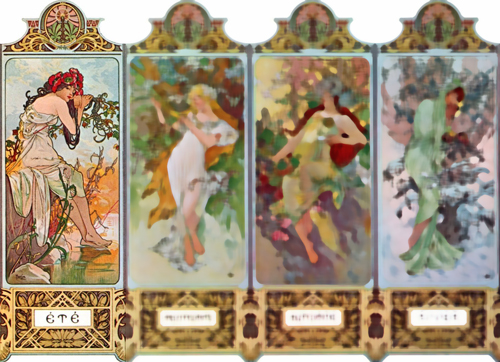 Mucha seasons: Summer