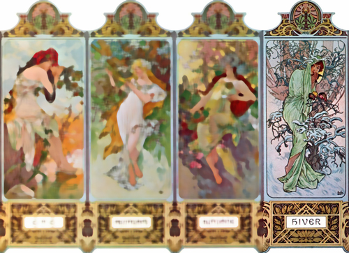 Mucha seasons: Winter